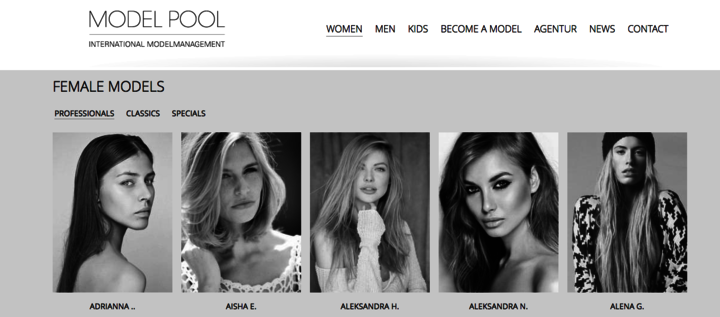 MODEL POOL INTERNATIONAL MODELMANAGEMENT